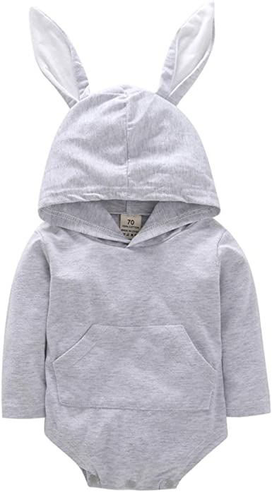 Newborn Baby Boys Girls Long Sleeves Keep Warm Cartoon Hooded Romper Jumpsuit Palarn Baby Clothes