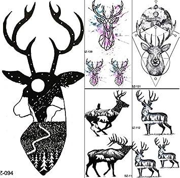 yyyDL tatuajes temporales Tatuajes Temporales Mujeres Negro Luna ...