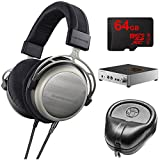 BeyerDynamic T1 Second Generation Audiophile Stereo Headphone 718998 w/ Amp Bundle Includes, BeyerDynamic A2 Headphone Amplifier, Slappa Headphone Case, Sony 64GB micro SDXC Class 10 Memory Card