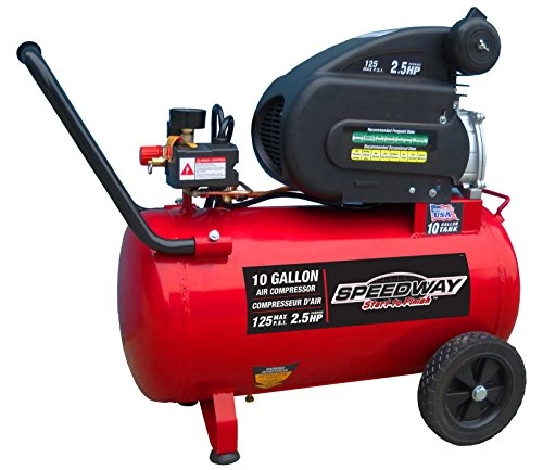 Speedway 52956 Air compressor with Pneumatic Tires, 10 gallon For Sale