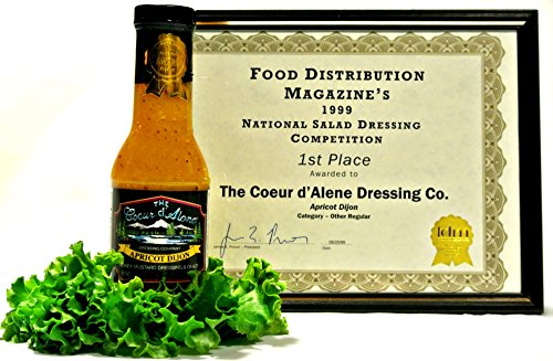 Apricot Dipping Sauce - The Coeur d'Alene Dressing Company - Apricot Dijon Dressing & Glaze - Two 12 ounce Jars