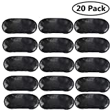 Pack of 20 Eye Mask Shade Cover Blindfold Night Sleeping, with Nose Pad, Blindfold Game Games Relax Cover Black