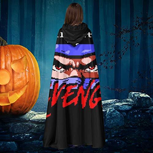 Ninja Gaiden Costume Halloween (I Will Get My Revenge Retro Ninja Gaiden Unisex Christmas Halloween Witch Knight Hooded Robe Vampires Cape Cloak Cosplay Costume)