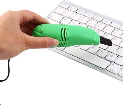 Ogquaton Aspirador portátil Mini USB para Teclado de computadora, Cepillo de Mano para Limpiar el Teclado (Verde): Amazon.es: Electrónica