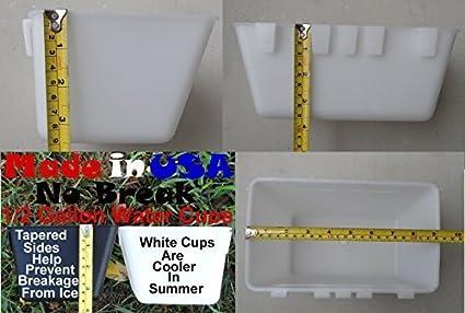 Amazon.com: Hanging 1/2 Galón (64 oz) Jaula de agua tazas ...