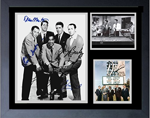 The Rat Pack And The Sands Hotel Las Vegas Frank Sinatra Sammy Davis Jr. DEAN Martin Framed Print 14 x (Rat Pack Framed)