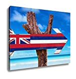 Ashley Canvas, Hawaii Flag Wooden Sign, Home Decoration Office, Ready to Hang, 20x25, AG6403915