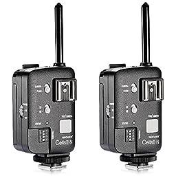 Neewer CellsII-N All-in-One Wireless Transceiver Flash Strobe Trigger Transmitter Receiver for Nikon DSLR Series,Witstro Series,Godox V850 V860,Neewer TT850 TT860 Speedlite (2 Pieces)