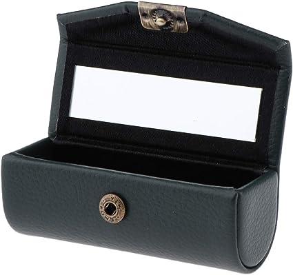 Caja de Lápia Labial Recipiente Cosmético Envase de Brillo de Labios Estuche de Pintalabios Contenedores - verde oscuro: Amazon.es: Belleza