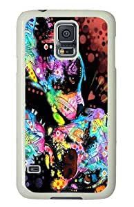 puppy love PC Case Cover for Samsung S5 and Samsung Galaxy S5 White