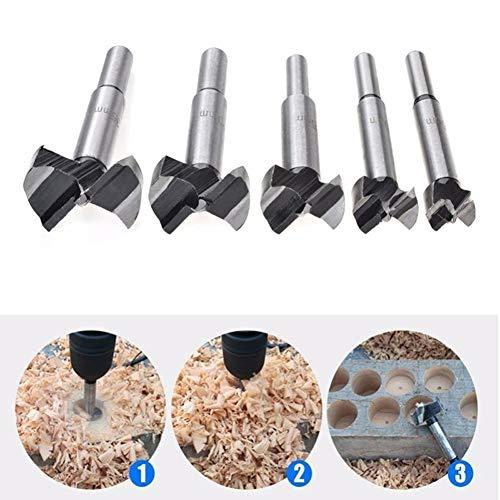 - dezirZJjx 5 PCS Drill Bit, Diameter Carbide Alloy Drill Bit Hole Saw Woodworking Metal Cutting Tool 25mm