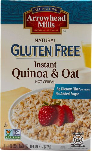 Arrowhead Mills Organic Gluten Free Quinoa & Oat Instant Hot Cereal -- 8 Packets - 2 pc