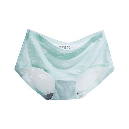 Zhuhaixmy Mujer Ultra-delgado Seda Sin Costura Ropa interior Cintura alta Respirable Panties Bragas