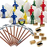 Battle Mode Gamer Party Favors for 12 - Pickaxe Pencils (12), MINI Treasure Chest (12), Paratrooper Toys with Parachutes (12) and Game Winner Party Sticker (Total 37 Pieces)