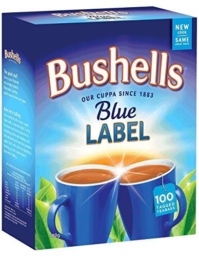 Australian Tea - Australian Bushells Blue Label 100 Tagged Tea Bags