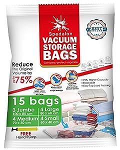 Vacuum Storage Bags Pack Of 15 3 Jumbo 100x80cm 4
