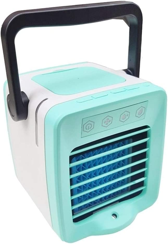 Color : Blue Mini Portable Cooling Fan USB Mini Portable Arctic Air Cooler Personal Space Cooling Fan Low Power Save Energy