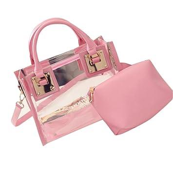 2f5b7704a Amazon.com  Baigoods 2pc Fashion Women Transparent Shoulder Bag ...