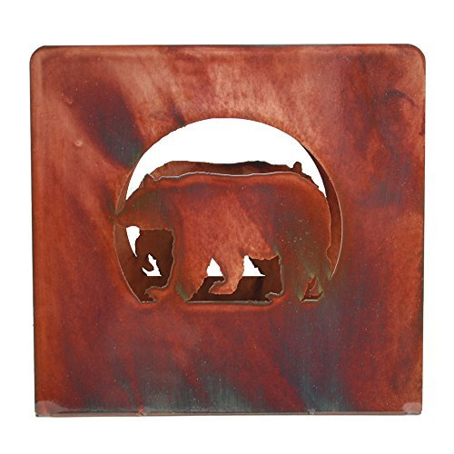 - Chevelon Goods Decorative Luncheon and Dinner Napkin Holder w/Rustic Patina Finish - Bear