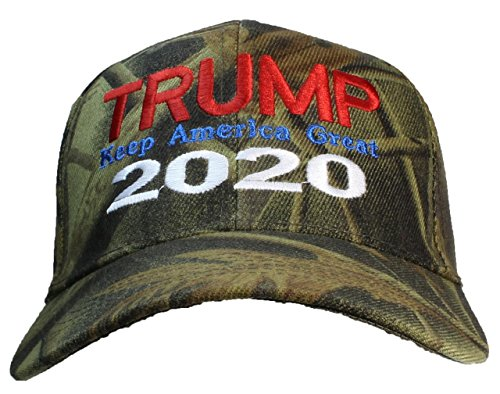 Tropic Hats Adult Camouflage Embroidered Trump 2020 Keep America Great Cap - Hardwoods ()