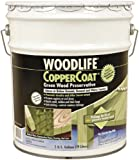 Woodlife 01902 Copper Coat Green Wood Preservative, 5-Gallon Pail