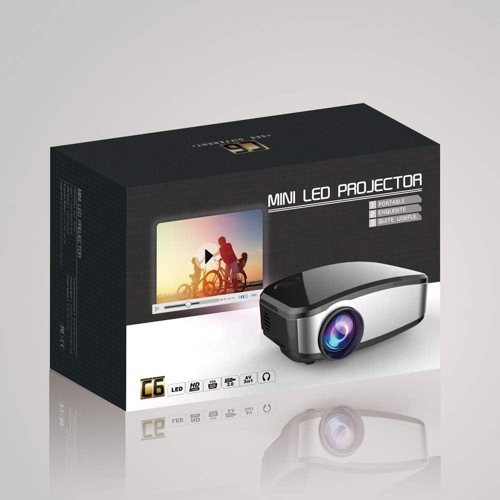 Q&N Mini proyector LED, proyector de Video de Bolsillo DLP ...