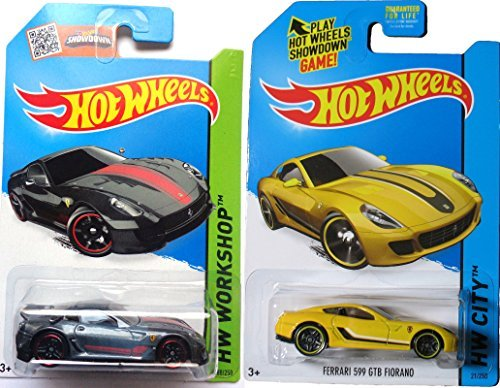 (Ferrari 599 2015 2 Car Set Hot Wheels #188 599XX & #21 599 GTB Fiorano Speed racers)