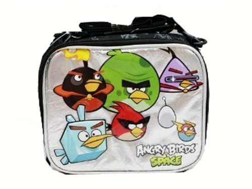 2 X Lunch Bag  Angry Birds  Space (Black Silver)