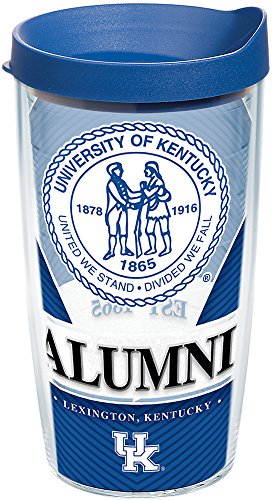 - Tervis 1222668 Kentucky Wildcats Alumni Tumbler with Wrap and Blue Lid, 16 oz - Tritan, Clear