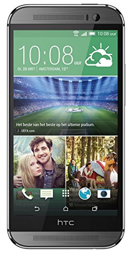 HTC One M8 Smartphone (5 Zoll (12,7 cm) Touch-Display, 16 GB Speicher, Android 4.4.2) metallgrau