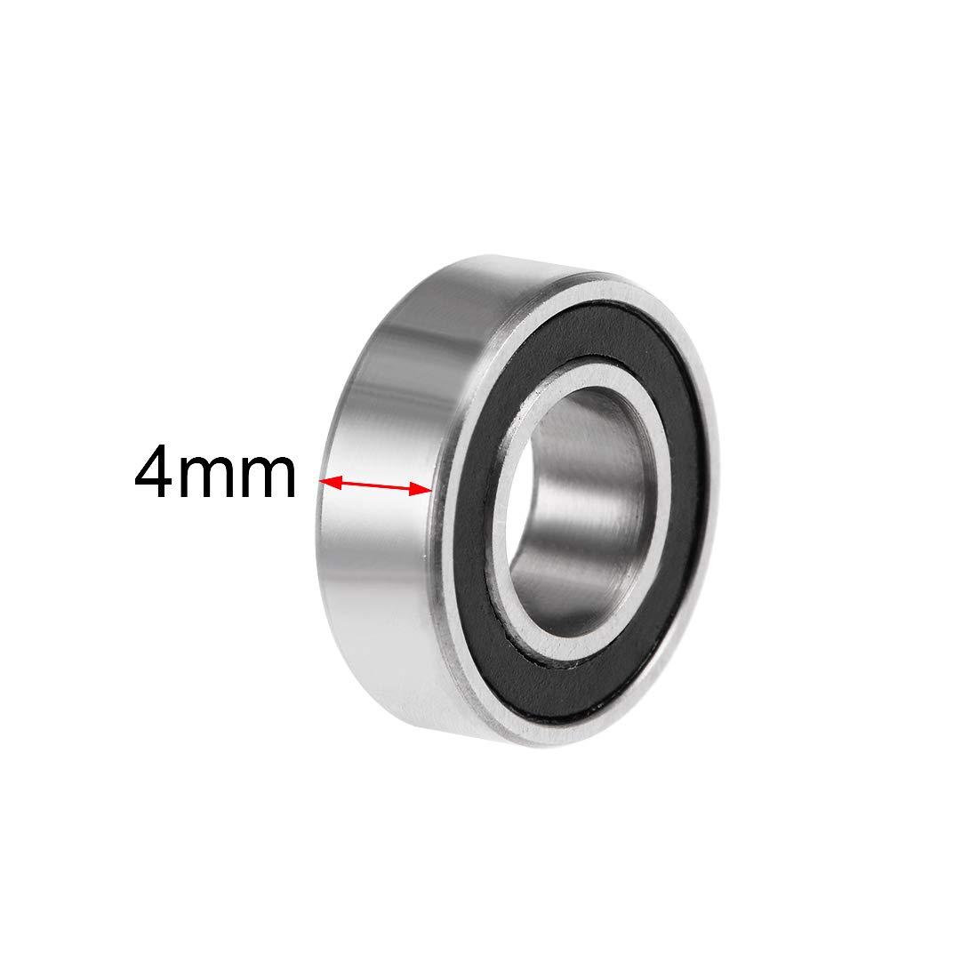 ABEC3 10Pcs sourcing map MR126-2RS Gorge Profonde Bille Roulements 6mm x 12mm x 4mm Double Scell/é Chrome Acier P6