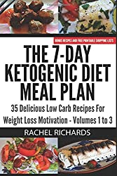 The 7-Day Ketogenic Diet Meal Plan: 35 Delicious Low Carb Recipes For Weight Loss Motivation - Volumes 1 to 3