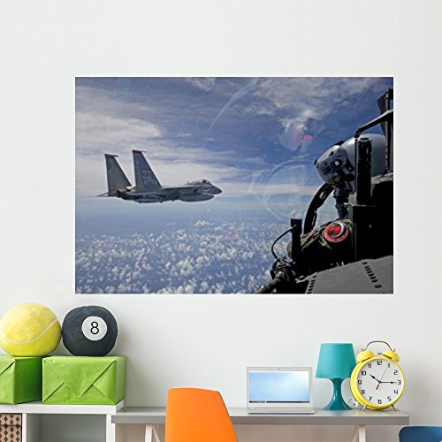 F-15 Eagle Pilot Flies Wall Mural by Wallmonkeys Peel and Stick Graphic (60 in W x 41 in H) WM123467