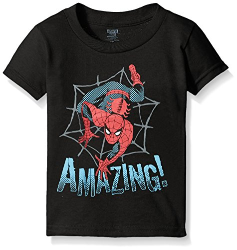 Toddler Captain America, Spiderman or Avengers T-Shirt, Amazing Spiderman, Black,4T ()