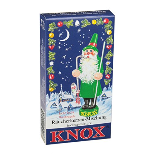 KNOX Variety of Holiday Scented Incense Cones, Pack of 24, Made in Germany Man Incense Smoker