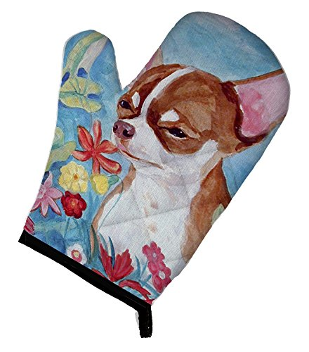 Caroline's Treasures 7053OVMT Chihuahua in Flowers Oven Mitt, 12