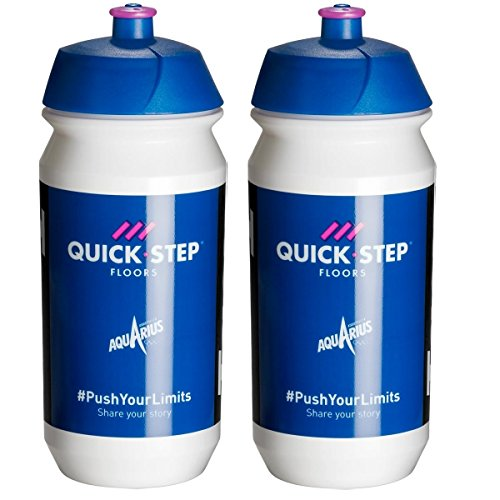 Tacx Shiva Pro Team Water Bottles - 500ml, Quick-Step Floors (2 Pack)