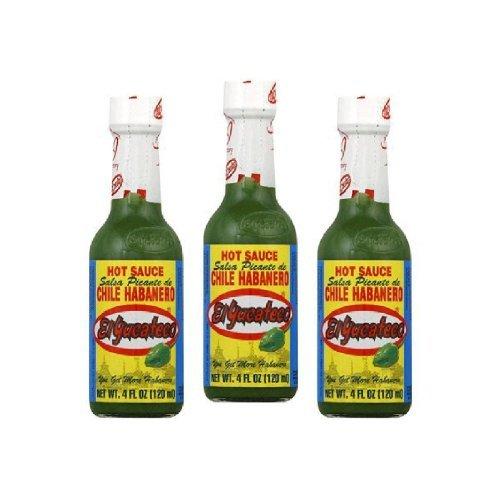 - El Yucateco Sauce Habanero Grn Hot  (Pack of 3)