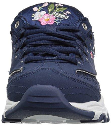 Bright D´Lite Sportschuhe Damen Weiß Skechers Navy Blossoms 6Uwtn7q