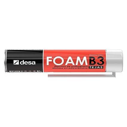 Desa 27018122 - Espuma de poliuretano DESA-FOAM tejas canula 750 ml