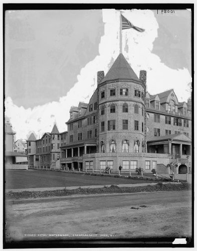 Photo: Narragansett Pier,New Mathewson,hotels,resorts,buildings,Rhode Island,RI,1890