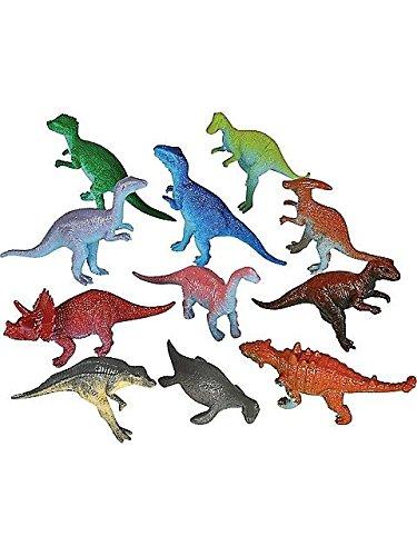 Paleontology Costumes - 12 Toy Jurassic Prehistoric Dinosaurs T Rex, Stegosaurus, and more