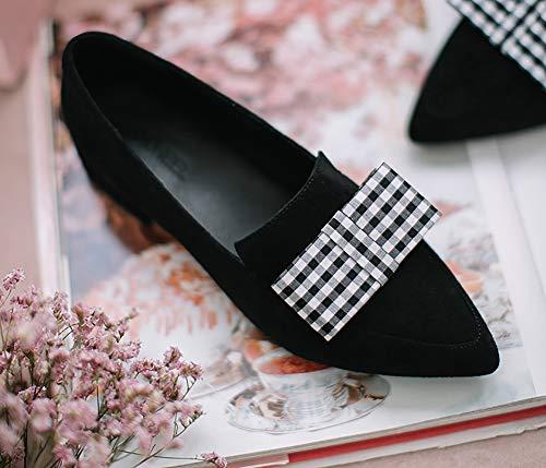 Damenschuhe Slip Farbe 37 HWF Frauen SCHWARZ Single Herbst Weibliche 3cm Wies Mittlere Ferse Fashion on größe Schuhe Absatzhöhe 6A6Uzxn