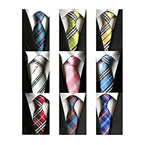 Welen Lot 9 PCS Classic Men's Tie Necktie Woven JACQUARD Neck Ties