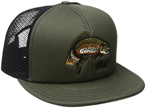 Coal Men's The The Wilds Mesh Back Trucker Hat Adjustable Snapback Cap, Olive, One Size
