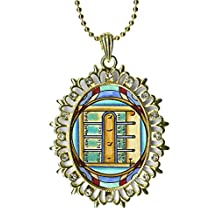 Solomons 1st Moon for Opening Ethereal & Physical Doors Huge Light Gold Medallion Rhinestone Pendant