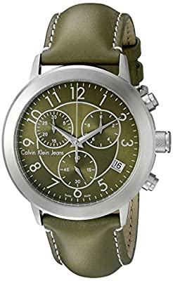 Calvin Klein Men's K8717174 Continual Analog Display Swiss Quartz Green Watch