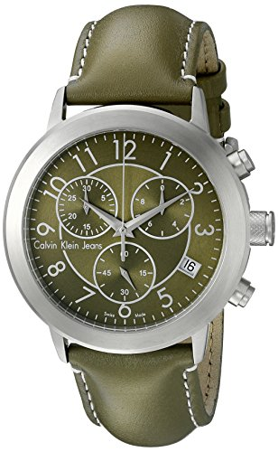 Calvin Klein Men's K8717174 Continual Analog Display Swiss Quartz Green Watch