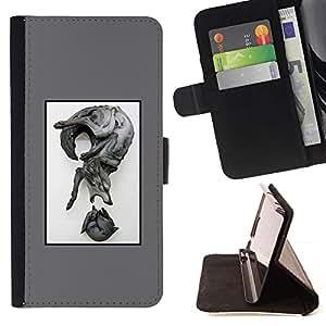 Momo Phone Case / Flip Funda de Cuero Case Cover - Lobo Resumen;;;;;;;; - Sony Xperia Z3 D6603