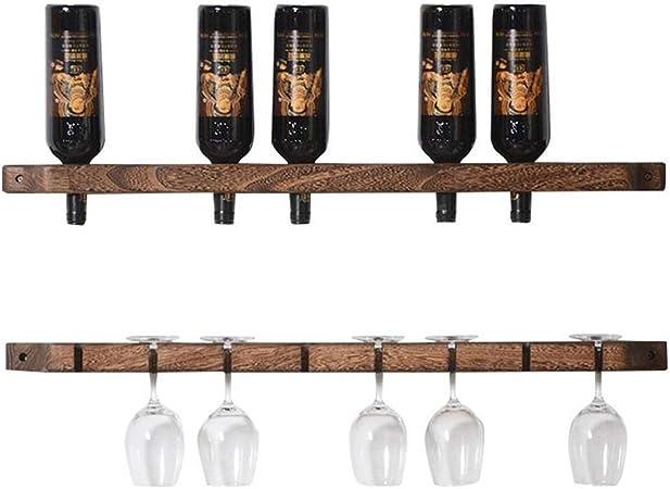 Casier A Vin Support Mural Range Bouteilles Mural Casier A Vin Rustique Support De Rangement Pour Etagere Murale Etagere A Gobelet Amazon Fr Cuisine Maison